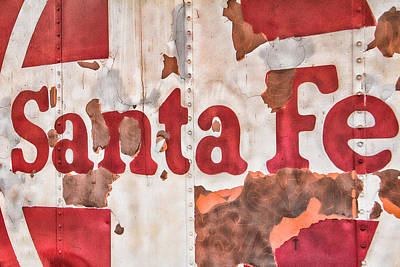 Wild Hogs Photograph - Santa Fe Vintage Railroad Sign by Steven Bateson