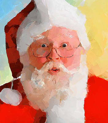 Excellent Christmas Gifts Digital Art - Santa Greetings by Yury Malkov