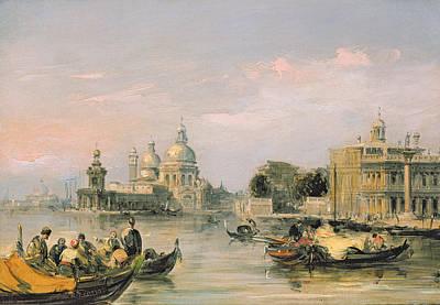 Dome Painting - Santa Maria Della Salute, Venice, 19th Century  by Edward Pritchett