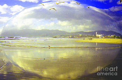 Santa Monica Beach Print by Jerome Stumphauzer