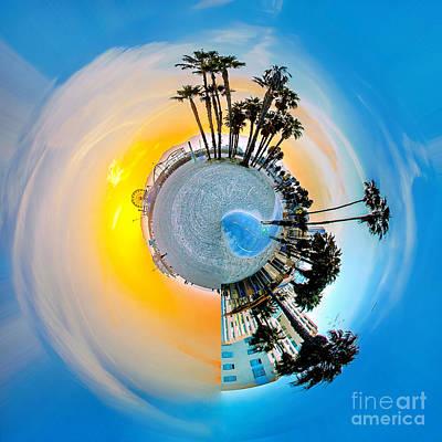 Santa Monica Pier Circagraph Print by Az Jackson