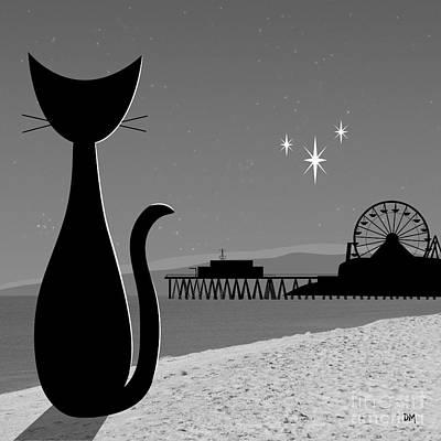 Santa Monica Digital Art - Santa Monica Pier by Donna Mibus