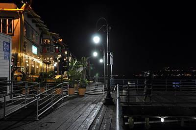 Santa Monica Pier Print by Gandz Photography
