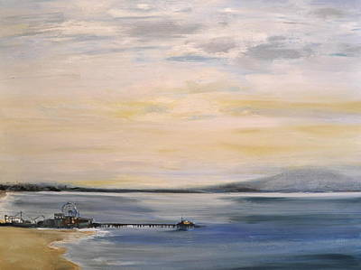 Santa Monica Painting - Santa Monica Pier by Lindsay Frost