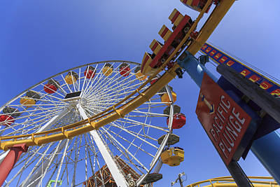 Carnival Photograph - Santa Monica Pier Pacific Plunge by Scott Campbell