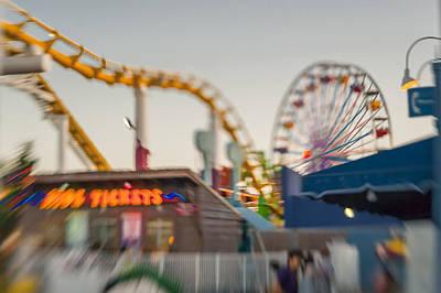 Amusement Park Photograph - Santa Monica Pier Ride Entrance by Scott Campbell