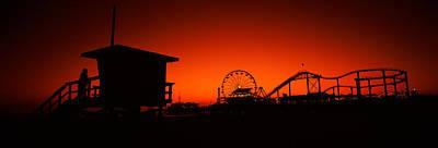 Rollercoaster Photograph - Santa Monica Pier, Santa Monica Beach by Panoramic Images