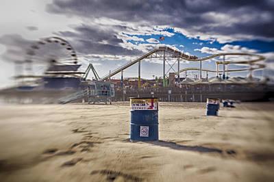 Lifeguard Photograph - End Times At Santa Monica Pier by Scott Campbell