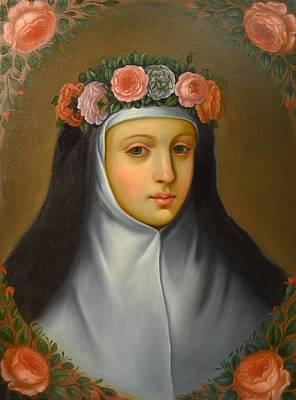 Filipina Painting - Santa Rosa De Lima by Jose antonio Robles