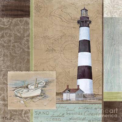 Row Boat Painting - Santa Rosa Lighthouse I by Paul Brent