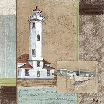 Row Boat Painting - Santa Rosa Lighthouse II by Paul Brent
