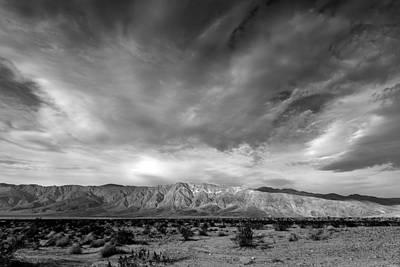 Dry Lake Photograph - Santa Rosa Mountains by Peter Tellone