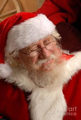 Santa Winking Original by Jesse Montanez