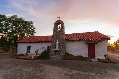 Christian Photograph - Santa Ysabel Mission St Francis Chapel Side by Scott Campbell
