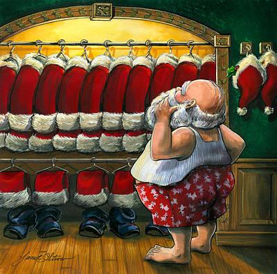 Santa's Closet Print by Janet Stever