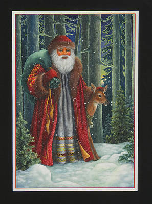 Santa Claus Painting - Santa's Journey by Lynn Bywaters