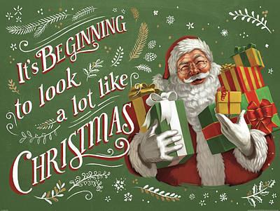 Santas List Iv Print by Janelle Penner