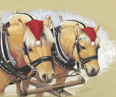 Santa's Little Helpers Print by Tracie Thompson