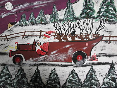 Santa's Truckload Print by Jeffrey Koss