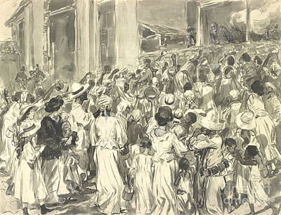Santiago Refugees 1898 Print by Padre Art