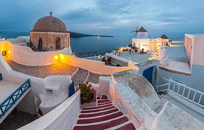Cyclades Photograph - Santorini by Evgeni Dinev
