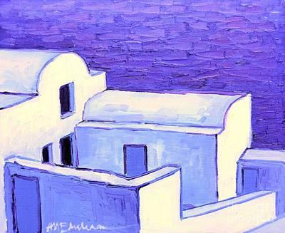 Santorini Houses Print by Ana Maria Edulescu