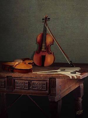 Violin Digital Art - Santuario Del Maestro by Matthew Schwartz