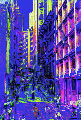 Portuguese Mixed Media - Sao Paulo Downtown At Night by Steve Ohlsen