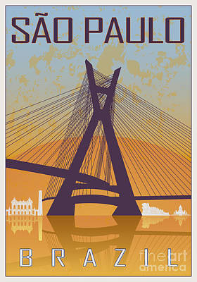 Sao Paulo Vintage Poster Print by Pablo Romero