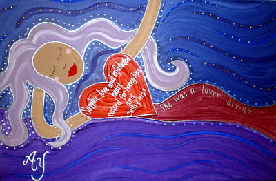 Greek Icon Painting - Sappho by Angela Yarber