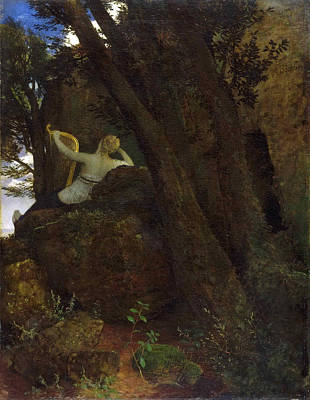 Arnold Painting - Sappho by Arnold Boecklin