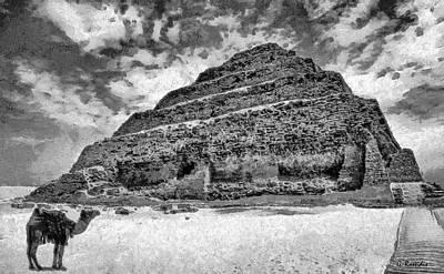 Saqqara Pyramid Print by George Rossidis