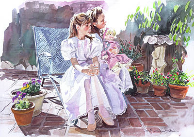 Selecting Painting - Sara And Erin Foster - Waiting For Lunch by David Lloyd Glover