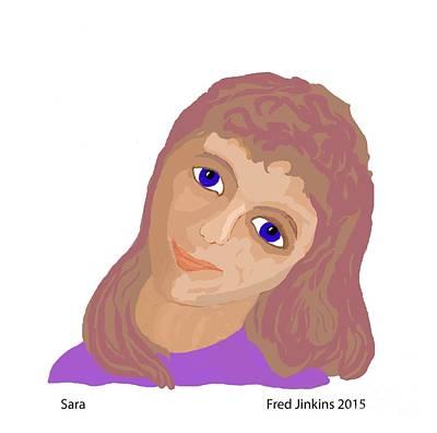 Friendly Digital Art - Sara by Fred Jinkins