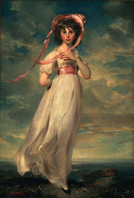 Adolescent Painting - Sarah Goodwin Barrett Moulton Pinie 1794 by Thomas Lawrence
