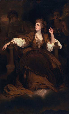 Sarah Siddons As The Tragic Muse Print by Sir Joshua Reynolds