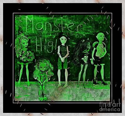 Gorgon Digital Art - Sarah's Monster High Collection Frankenstein Effect by Barbara Griffin