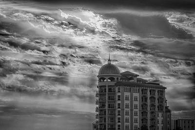 Sunset Photograph - Sarasota Summers - Bw by Nicholas Evans