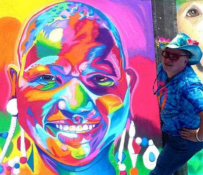 Sarasota's Colorful Face Print by Mythica Von Griffyn
