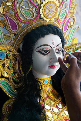 Hindu Goddess Photograph - Sarasvati (female Hindu God by Peter Adams