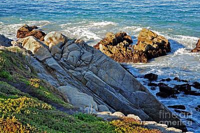 Sarcophagus Formation On Seaside Rocks Print by Susan Wiedmann