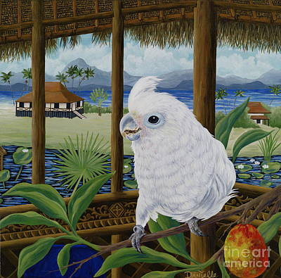 Cockatoo Painting - Sasha In Indonesia by Danielle  Perry