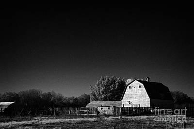 Saskatchewan Barn On Farm In Rural Canada Print by Joe Fox