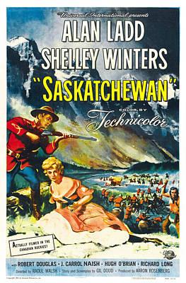 Saskatchewan, From Left Alan Ladd Print by Everett
