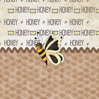 Buy Digital Art - Sassy Honey Bee by Debra  Miller