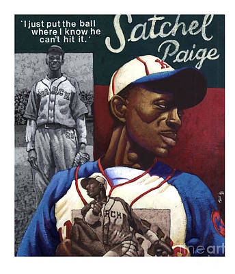 Baseball History Painting - Satchel Paige by Keith Shepherd