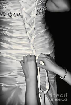 Satin Laces Print by Bel Menpes