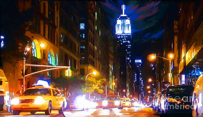 Saturday Night Live Painting - Saturday Night New York Live by Tim Gilliland