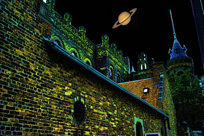 Saturn Over Pabst Brewery Fantasy Image Of Abandoned Home Of Blue Ribbob Beer From 1860  Original by Lawrence Christopher