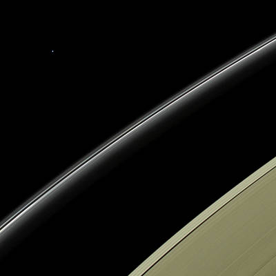 Saturn's Rings And Uranus Print by Nasa/jpl-caltech/space Science Institute
